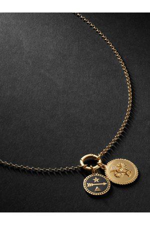 Foundrae Herren Halsketten - 18-Karat , Diamond and Enamel Necklace