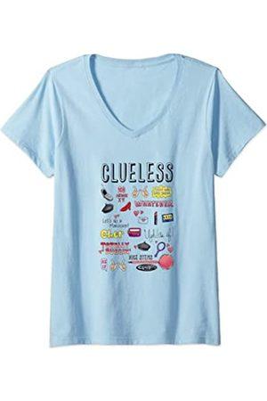 Paramount Damen Shirts - Damen Clueless Icon Doodles T-Shirt mit V-Ausschnitt