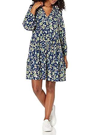 THE DROP Damen Freizeitkleider - Gestuftes Minikleid mit Rüschenausschnitt, für Damen, von @caralynmirand
