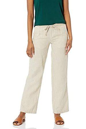 Amazon Linen Blend Drawstring Wide Leg Pants XL