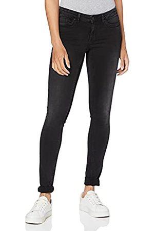 Noisy May Damen Nmeve Lw Pocket Piping Vi876 Noos Slim Jeans, Black