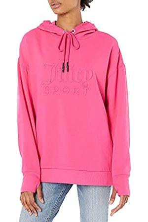 Juicy Couture Damen Embossed Logo Hoodie Tunic Kapuzenpullover