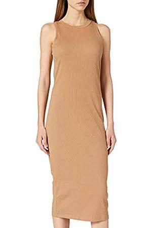 VERO MODA Damen Vmlavender Sl Calf Dress VMA Noos Kleid, Tigers Eye