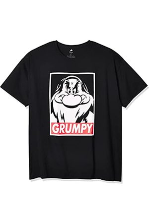 Disney Men's Snow White and Seven Dwarfs Grumpy Graphic T-Shirt, Black