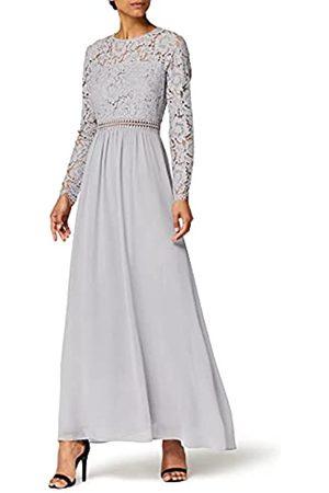 TRUTH & FABLE Damen Lange Kleider - Amazon-Marke: Damen Maxi A-Linien-Kleid aus Spitze, 34