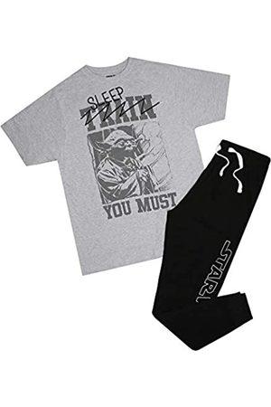 STAR WARS Herren Schlafanzüge - Herren Sleep You Must Yoda Pyjama Set Pyjamaset