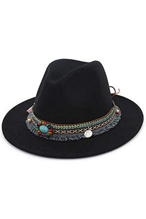 Fange Fedora-Hut für Herren und Damen, Vintage-Stil, mit breiter Krempe