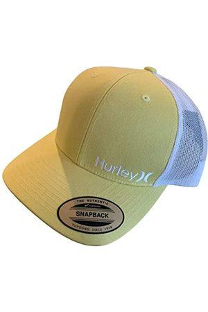 Hurley Herren Caps - Adult Men's Mesh Snapback Adjustable Trucker Cap Hat (Yellow Staple)