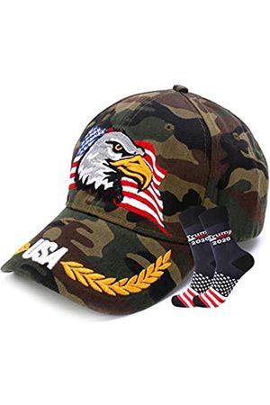 shinyis Herren USA Patriotische American Adler Mütze Baseball Cap Stickerei 3D Rot ... - - 58-60 cm