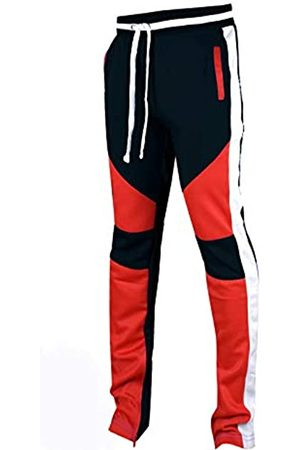 SCREENSHOT Herren-Trainingshose Hip Hop Premium Slim Fit – Athletic Jogger Hose mit seitlichem Taping - - Mittel