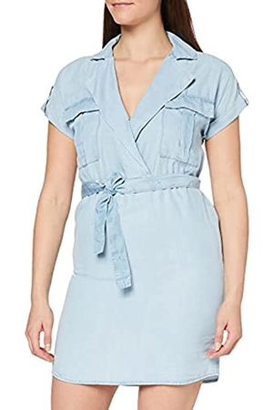 Noisy May Damen Freizeitkleider - Noisy may Damen Nmvera S/S Endi Tencel Shirt Dress Noos Kleid, Light Blue Denim