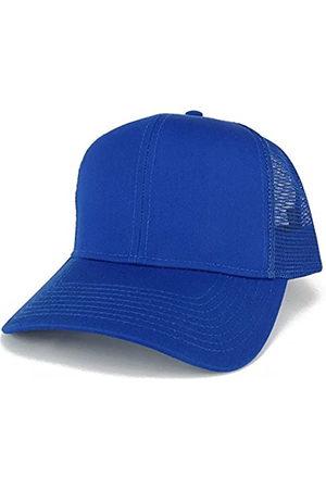 Armycrew Herren Caps - XXL Oversize High Crown Adjustable Plain Mesh Back Trucker Baseball Cap - - Einheitsgröße