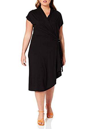 Samoon Womens Kleid Gewirke Dress, Black