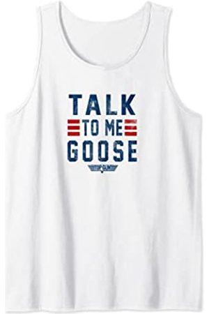 Paramount Top Gun Talk To Me Goose Distressed Text Standard t-shirt Tank Top