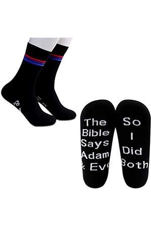 G2TUP Herren Socken & Strümpfe - 2 Pairs Bisexual Pride Gift LGBTQ Gift Bi Flag Sock The Bible Says Adam and Eve So I Did Both (Bisexual Socks
