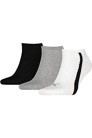 PUMA Unisex-Adult Lifestyle Sneaker-Trainer (3 Pack) Socks, White/Grey/Black