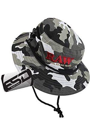 RAW Herren Hüte - Camo Smokermans Hut groß – funktioneller Eimer Hut mit vier Vorrollschlitzen für Kegel oder Doob Tubes – 100% Baumwolle
