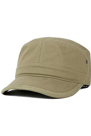 Trendy Apparel Shop Herren Caps - Oversize XXL Flat Top Style Army Cap - Beige - XX-Large