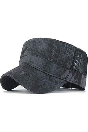 REDSHARKS Mesh Snake Camouflage Camo Cadet Army Cap Einstellbare USA Amerikanische Flagge Military Hat Flat Top Baseball Sun Cap - - Einheitsgröße