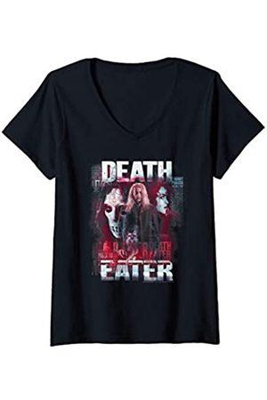 Harry Potter Damen Death Eaters Lucius Malfoy T-Shirt mit V-Ausschnitt