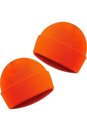 Geyoga Herren Mützen - Mütze Schädelkappe Acryl Manschette Strickmütze für Männer Outdoor Jagd (