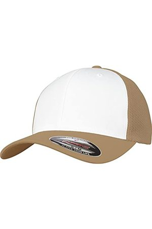 Flexfit Mesh Colored Front Unisex Kappe für Damen und Herren, Mehrfarbig (khaki/White)