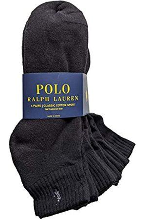 Polo Ralph Lauren Men's Ribbed Quarter Socks 6-Pairs (Black)