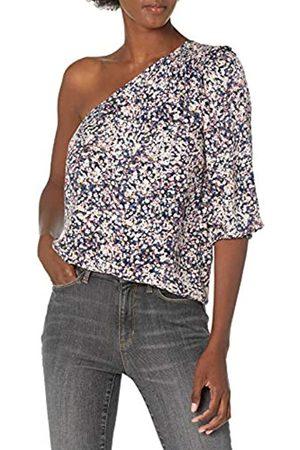 Goodthreads Damen Asymmetrische Kleider - One Shoulder Fluid Twill Woven Top Dress-Shirts