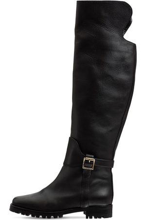 """MANOLO BLAHNIK 25mm Stiefel Aus Leder """"tamara"""""""