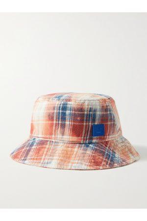 Acne Studios Herren Hüte - Logo-Appliquéd Checked Cotton-Flannel Bucket Hat