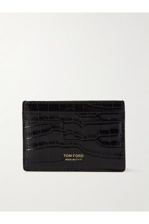 TOM FORD Croc-Effect Leather Cardholder