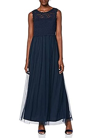 VILA Damen Vilynnea Maxi Dress - Noos Partykleid, Total Eclipse