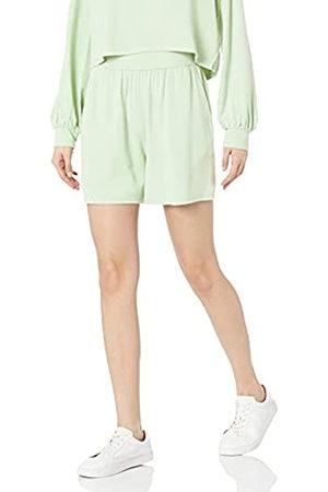 THE DROP Damen Shorts - Araya drapierte Shorts zum Hineinschlüpfen, für Damen, (Smoke Green)