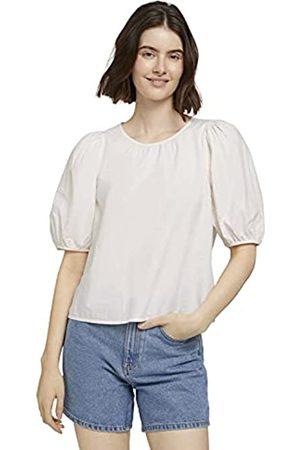 TOM TAILOR Damen Shirts - Damen 1025712 Feminine Bluse, 10348-Gardenia White