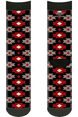 Buckle-Down Unisex-Erwachsene Socks Navajo Black/Gray/Red Crew Rucksäcke
