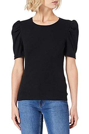 Pieces Damen PCANNA SS TOP NOOS BC T-Shirt, Black