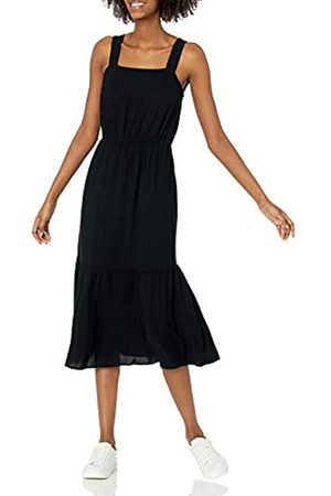 Amazon Relaxed Fit Fluid Twill Tiered Midi Dresses