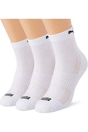 PUMA Unisex-Adult Cushioned Quarter (3 Pack) Socks