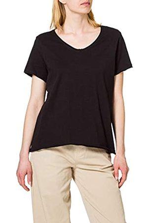 Carmakoma Damen CARBONNIE Life SS V-Neck TOP T-Shirt, Black