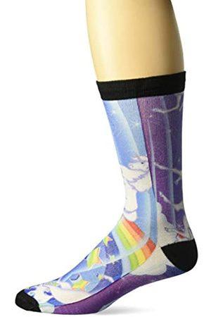 Buckle-Down Unisex-Erwachsene Socken Einhorn/Regenbogen/Sterne blau/weiß Crew