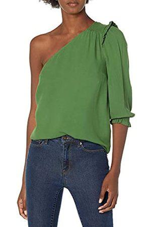 Goodthreads One Shoulder Fluid Twill Woven Top Hemd
