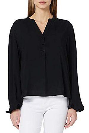 JDY Damen Shirts - Damen MARLON L/S Shirt WVN NOOS Bluse, Black