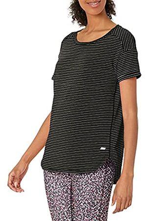Amazon Patterned Studio Relaxed-Fit Crewneck fashion-t-shirts, schwarze streifen