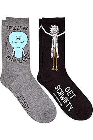Rick and Morty Mr. Meeseek's Schwifty Herren Crew Socken 2 Paar Pack Schuhgröße 39-47
