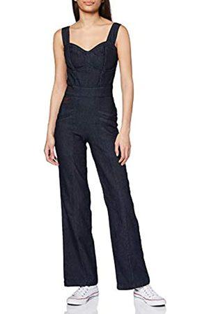 Queen Kerosin Damen Latzhosen - Damen Dungaree Jeans Jumpsuit Vintage Look | Latzjeans | Overall