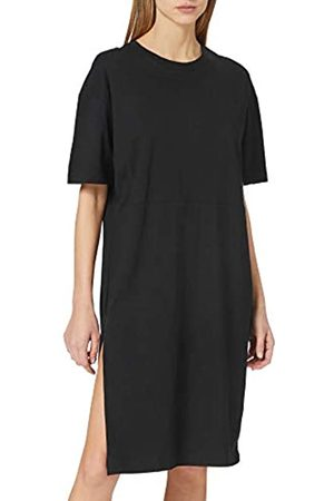 Urban classics Damen Ladies Organic Oversized Slit Tee Dress Kleid, Black