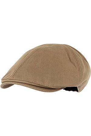 WITHMOONS Schlägermütze Golfermütze Schiebermütze Simple Newsboy Hat Flat Cap SL3026 (Brown)
