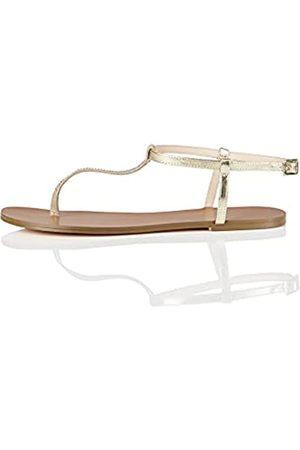 FIND Damen Sandalen - Toe Thong Sparkly Peeptoe Sandalen)