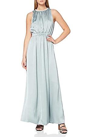 Little Mistress Damen Partykleid Cornflower Faux Pearl Satin Maxi Dress, (Cornflower 001)