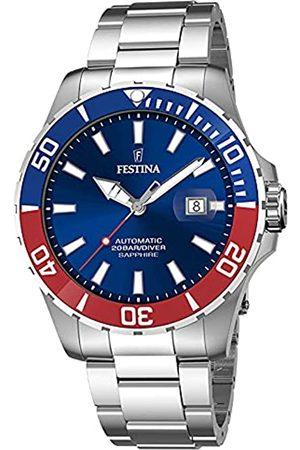 Festina Herren Analog Quarz Uhr mit Edelstahl Armband F20531/5